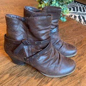 🍂Bare Trap Ankle Booties Women's Size 9